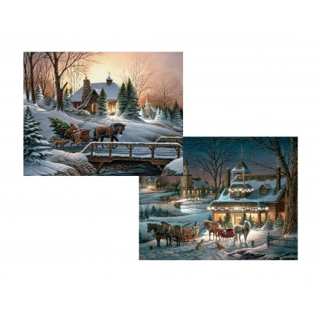 "Lang Boxed Christmas Cards - ""Evening Rehearsals Assorted"" - Artist Terry Redlin"