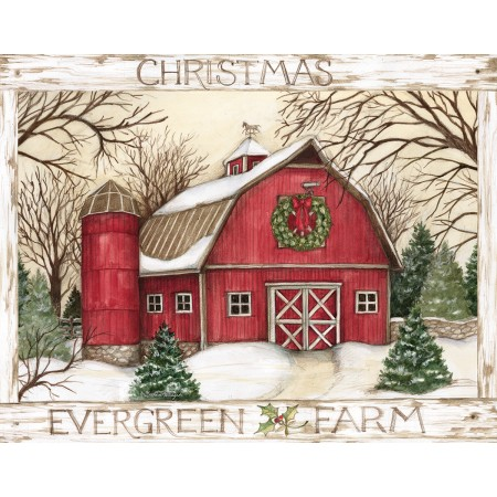 "Lang Boxed Christmas Cards - ""Evergreen Farm"" - Artist Susan Winget"