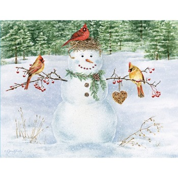Lang Boxed Christmas Cards - Happy Snowman - Jane Shasky