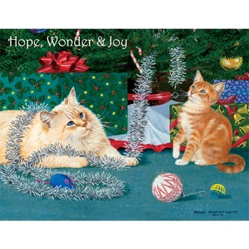 "Lang Boxed Christmas Cards - ""Kitten Christmas"" - Artist  Persis Clayton Weirs"