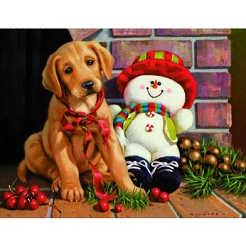 "Lang Boxed Christmas Cards - ""New Found Friends"" - Artist  Jim Lamb"