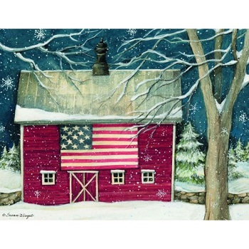 "Lang Boxed Christmas Cards - ""Patriotic Holiday"" - Artist Susan Winget"