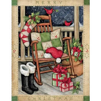 Lang Boxed Christmas Cards - Santa's Rocker - Susan Winget