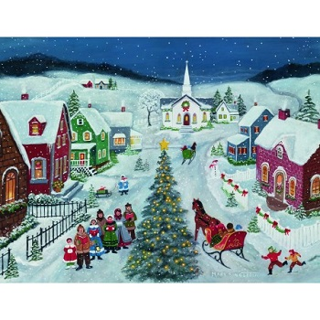 Lang Boxed Christmas Cards - Silent Night - Mary Singleton
