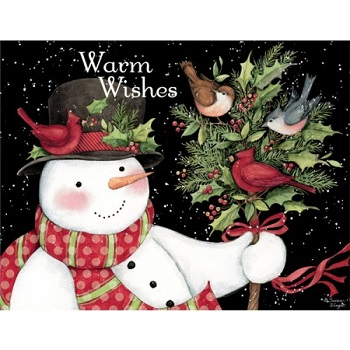 "Lang Boxed Christmas Cards - ""Snowman and Friends"" - Artist Susan Winget"