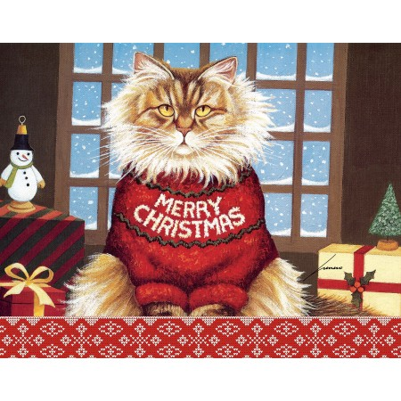 "Lang Boxed Christmas Cards - ""Squeaky's Christmas"" - Artist Lowell Herrero"
