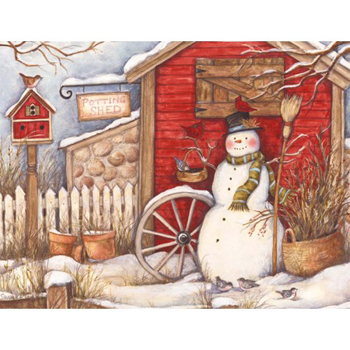 Lang Boxed Christmas Cards - Winter Barn - Susan Winget