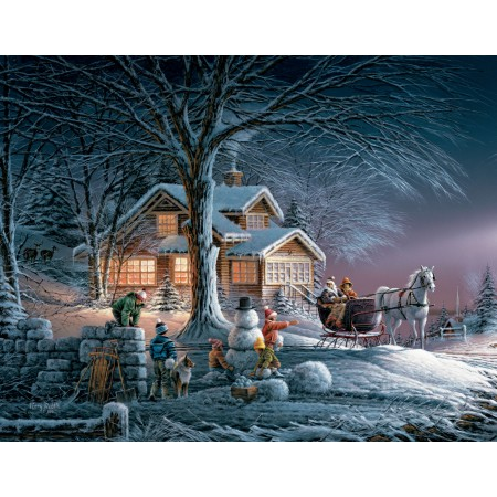 "Lang Boxed Christmas Cards - ""Winter Wonderland"" - Artist Terry Redlin"