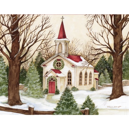 "Lang Boxed Christmas Cards - ""Woodland Church"" - Artist Susan Winget"