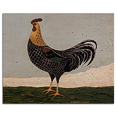 "Lang Boxed Note Cards -  ""Rooster Facing West""  -  Artist Warren Kimble"