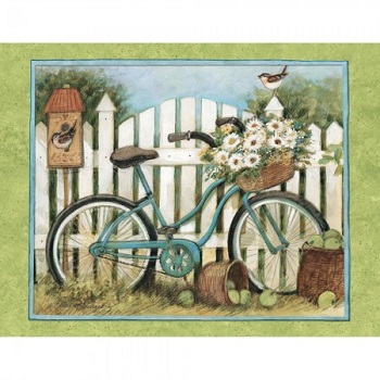 Lang Boxed Notecards - Blue Bicycle - Artist Susan Winget