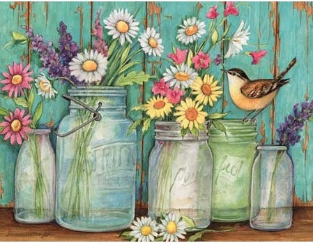 Lang Boxed Notecards - Flower Jar - Artist Susan Winget