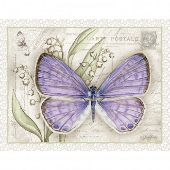 "Lang Boxed Notecards - ""Lavender Butterfly"" - Artist Jane Shasky"