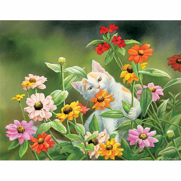 """Lang Boxed Notecards - """"Please Don't Eat The Zinnias"""" - Artist  Susan  Bourdet"""