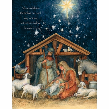 lang boxed religious christmas cards holy family artist susan winget
