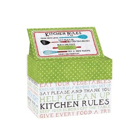 "Lang Recipe Box - ""Kitchen Rules"""