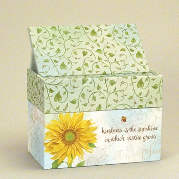 "Lang Recipe Box  - ""Virtue Grows"""