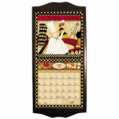 "Wall Calendar Frame  - ""Black Diamond"""