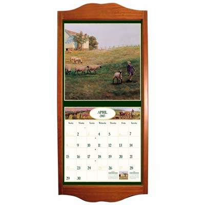 "Wall Calendar Frame  - ""Saddle"""