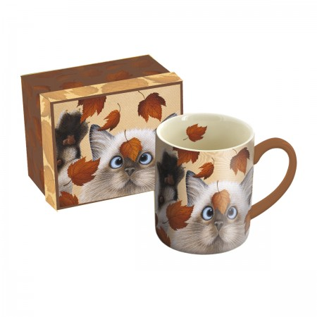 "Lang & Wise Mug - ""Catching Leaves"" - Artist Lowell Herrero"