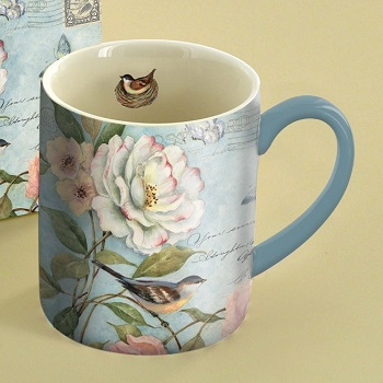 "Lang & Wise Mug - ""Cottage Bird"" - Artist Susan Winget"