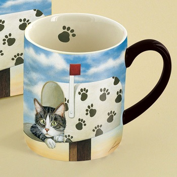 "Lang & Wise Mug - ""Toulouse Largent"" - Artist Lowell Herrero"