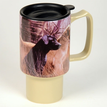 "Lang  & Wise Travel Mug  - ""Autumn Labs""  - Artist John Weiss"