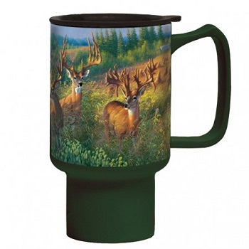 "Lang & Wise Travel Mug - ""Deer Reunion"" - Artist Michael Sieve"