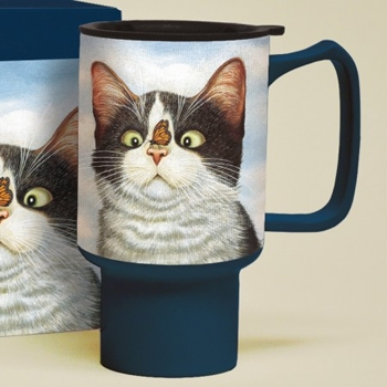 "Lang & Wise Travel Mug - ""Hugo Hege"" - Artist Lowell Herrero"