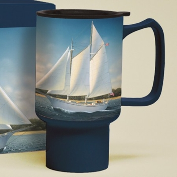 "Lang & Wise Travel Mug - ""Lady Stirling"" - Artist Daniel Pollero"