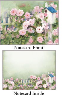 """Legacy Boxed Notecards - """"Roses & Birdhouses"""""""