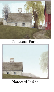 "Legacy Boxed Notecards - ""Willow Barn"""
