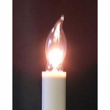 Light Bulb - Flame Tip Candle Light Bulb - Clear - Pack of 3