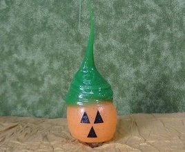"Light Bulb - ""Primitive Pumpkin Face  Light Bulb"""