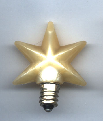 Light Bulb - Star Bulb - Medium Size   - 1.5""