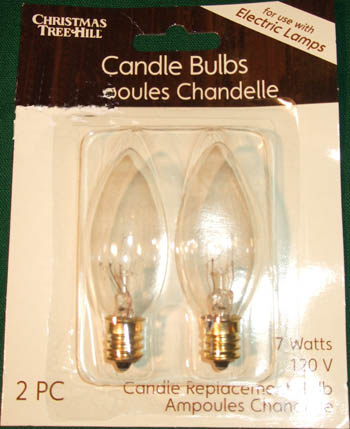 candle light bulbs torpedo bulb 7 watt 120 volt 2 pack