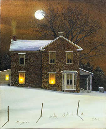 """Lighted Canvas Pictures - """"Amber Moon"""""""