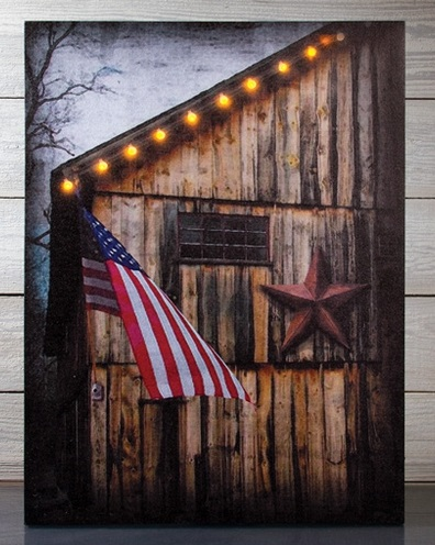 "Lighted Canvas Pictures - ""American"""