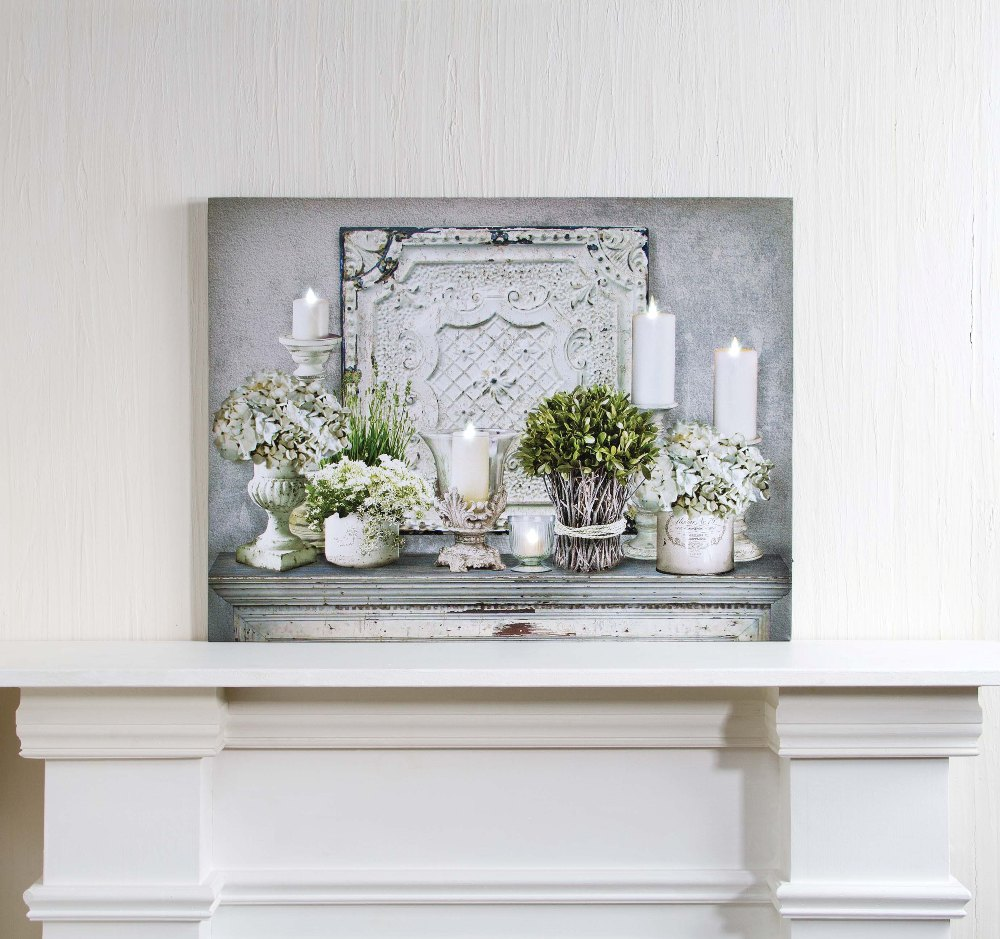 "Lighted Canvas Pictures - ""Architectural Mantle"""