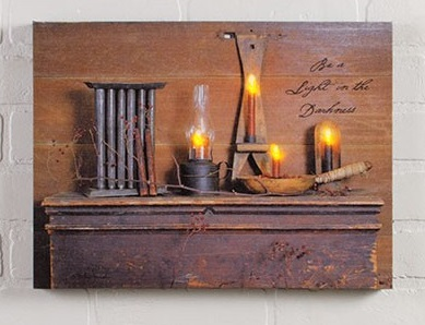 "Lighted Canvas Pictures - ""Be A Light"""