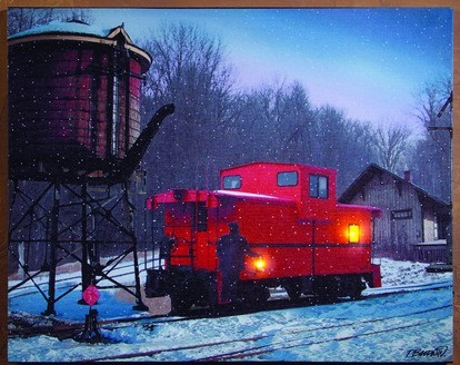 "Lighted Canvas Pictures - ""Caboose"" - Timer"