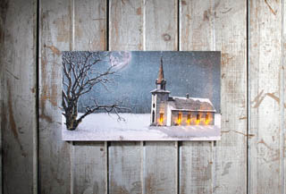 "Lighted Canvas Pictures - ""Candle Light Service"""