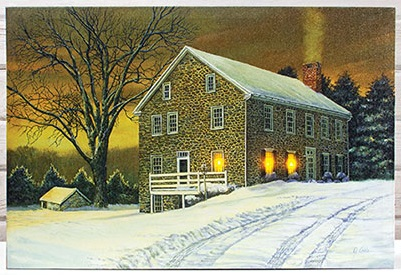 "Lighted Canvas Pictures - ""Chester Mill"""