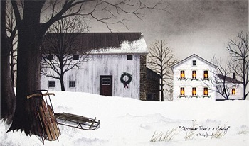 """Lighted Canvas Pictures - """"Christmas Time"""""""