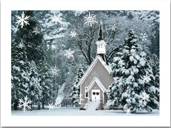 "Lighted Canvas Pictures - ""Church In Winter Time"""