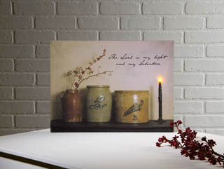 "Lighted Canvas Pictures - ""Crocks Bittersweet"""