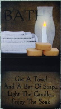 Lighted Canvas Pictures - Enjoy The Soak - 18in x 10in