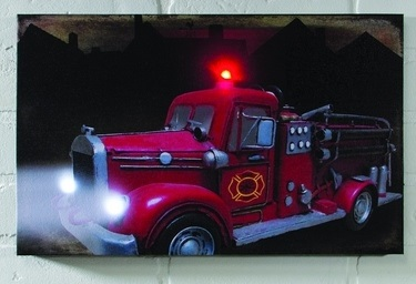 "Lighted Canvas Pictures - ""Fire Truck"""