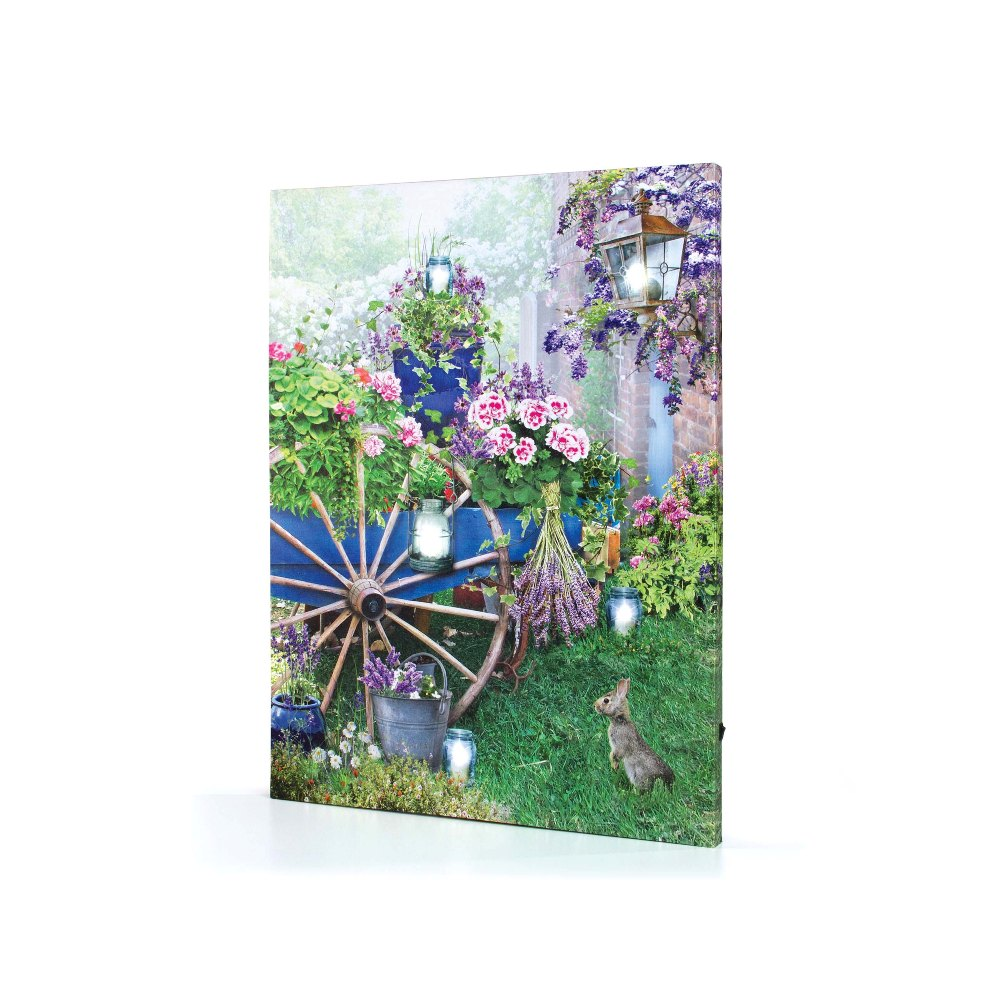 "Lighted Canvas Pictures - ""Flower Cart"""