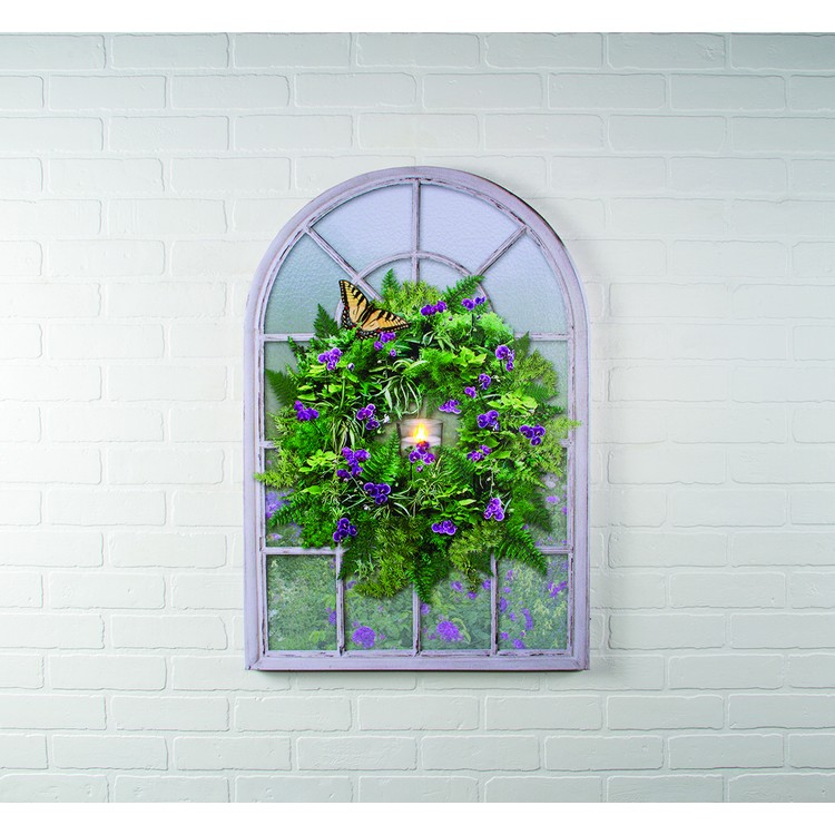 "Lighted Canvas Pictures - ""Frosted Glass Window"""